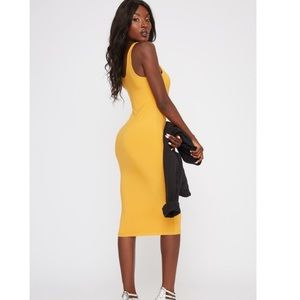 Yellow/Gold Midi Dress